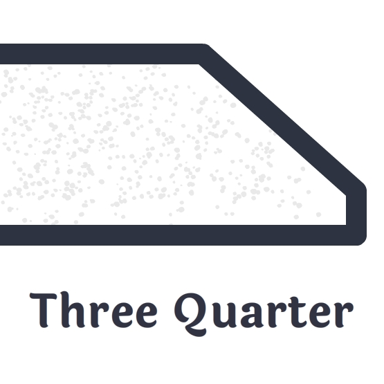 Three Quarter Bevel